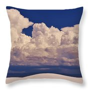 Storms Over The Mountains Throw Pillow