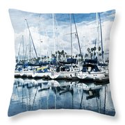 Stormy Blues Throw Pillow