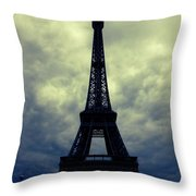 Stormy Day In Paris Throw Pillow by Carol Groenen