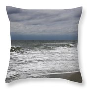 Stormy Day In Surfside Throw Pillow