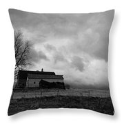 Stormy Day On The Farm Throw Pillow