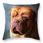 Stormy Dogue Throw Pillow