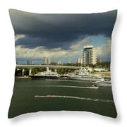 Stormy Fort Lauderdale Throw Pillow