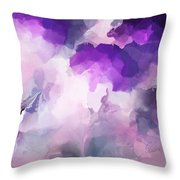 Stormy Purple Throw Pillow