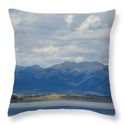 Stormy Skies In Jasper Throw Pillow