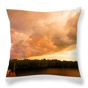 Stormy Sundowner Throw Pillow