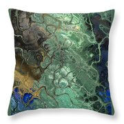 Stormy Waterspout Throw Pillow