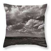 Stormy Wyoming Sky Throw Pillow