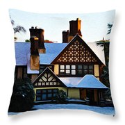 Storybook House Throw Pillow