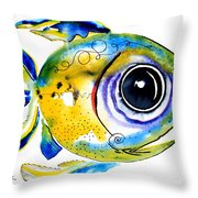 Stout Lookout Fish Throw Pillow
