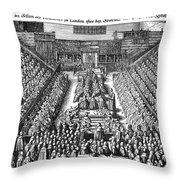 Strafford Trial, 1641 Throw Pillow