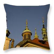 Strahov Monastery - Prague Czech Republic Throw Pillow