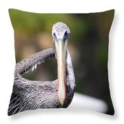 Straight At You Throw Pillow