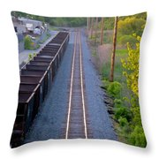 Straight Line Throw Pillow