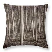 Straight Trees Throw Pillow