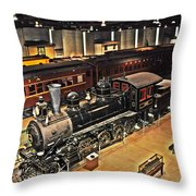 Strasburg Railroad Museum Throw Pillow