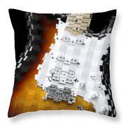 Classic Guitar Abstract 2 Throw Pillow
