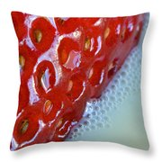 Strawberries And Milk Throw Pillow