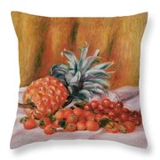 Strawberries And Pineapple Throw Pillow