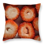 Strawberry Bliss Throw Pillow by Luke Moore