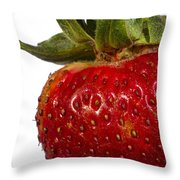 Strawberry Close Up No.0011 Throw Pillow