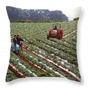 Strawberry Farm Throw Pillow