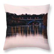 Strawberry Mansion Bridge At Dusk Throw Pillow