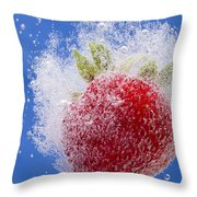 Strawberry Soda Dunk 1 Throw Pillow