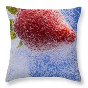 Strawberry Soda Dunk 2 Throw Pillow