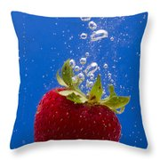 Strawberry Soda Dunk 5 Throw Pillow by John Brueske