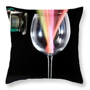 Straws In A Glass At Resonance Throw Pillow