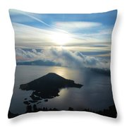 Streaks Above The Wizard Throw Pillow