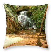 Stream To The Falls Throw Pillow