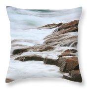 Streaming Seas Throw Pillow