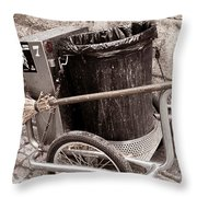 Street Cleaning Kit Throw Pillow