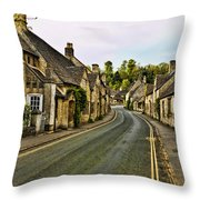 Street In Castle Combe Throw Pillow