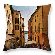 Street In Villefranche II Throw Pillow