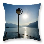 Street Lamp And Water Throw Pillow