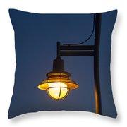 Street Lamp At Night. Throw Pillow