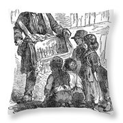 Street Musician, 1850 Throw Pillow
