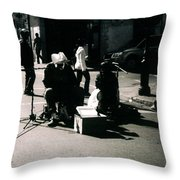 Street Musicians- Grandpa Elliot Throw Pillow