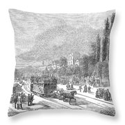 Street Railway, 1853 Throw Pillow
