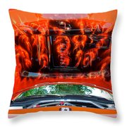 Street Rod Hood 3 Throw Pillow