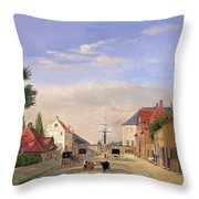 Street Scene Throw Pillow