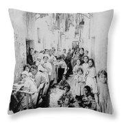 Street Scene In Athens Greece - C 1919 Throw Pillow