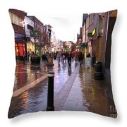 Street Scene Outside Windsor Castle Throw Pillow