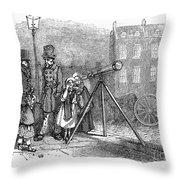 Street Telescope Throw Pillow