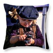 Street Urchin Throw Pillow