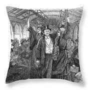 Streetcar, 1876 Throw Pillow by Granger