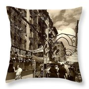 Streets Of Little Italy Throw Pillow